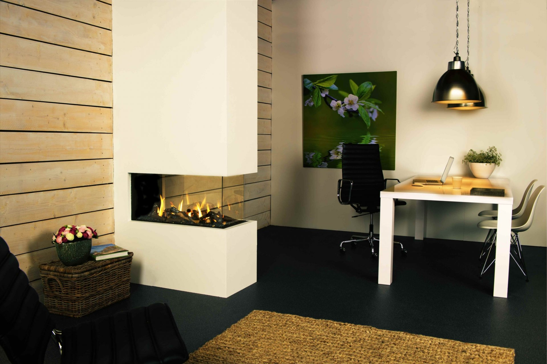 Trimline 85 roomdivider thermocet where fire meets design
